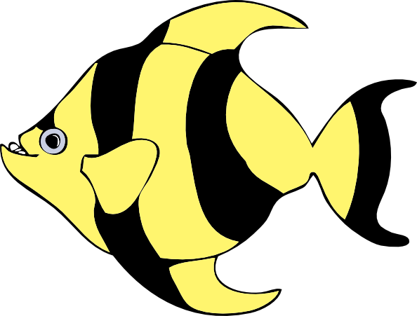free vector Striped Tropical Fish clip art