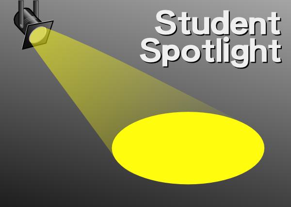 free vector Student Spotlight clip art