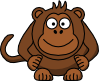 free vector Studiofibonacci Cartoon Monkey clip art