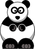 free vector Studiofibonacci Cartoon Panda clip art