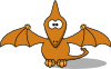 free vector Studiofibonacci Cartoon Pterodactyl clip art