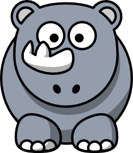 free vector Studiofibonacci Cartoon Rhino clip art