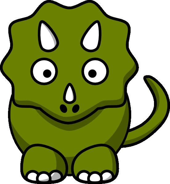 free vector Studiofibonacci Cartoon Triceratops clip art