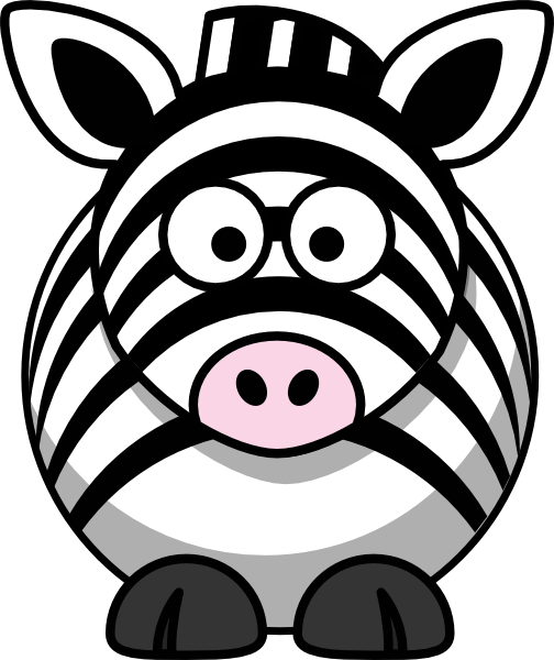 free vector Studiofibonacci Cartoon Zebra clip art