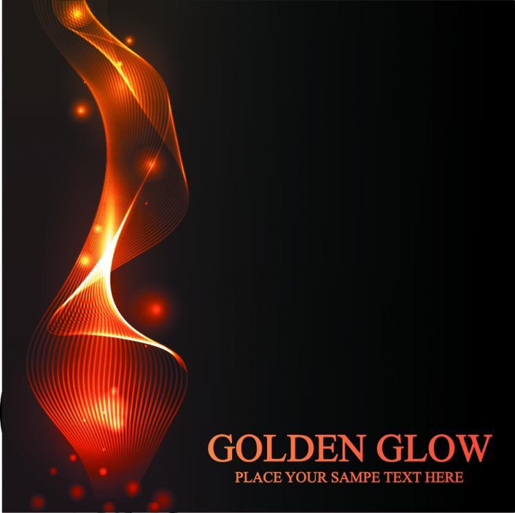 free vector Stunning golden light vector