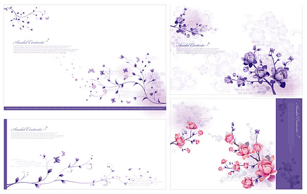 free vector Stylish and elegant flower pattern vector