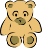 free vector Stylized Teddy Bear clip art