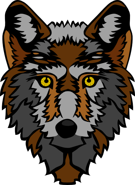 free vector Stylized Wolf Head clip art