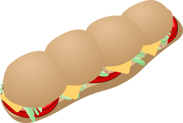 free vector Submarine Sandwich clip art