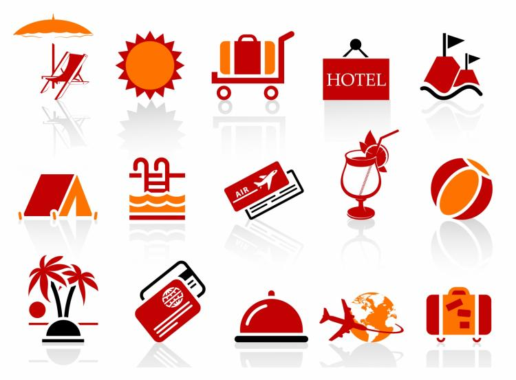 free vector Summer and vacation icons