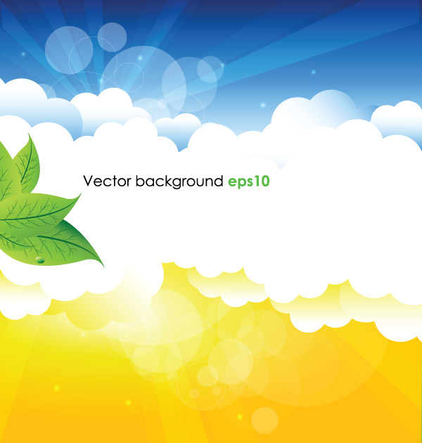free vector Summer background vector 1