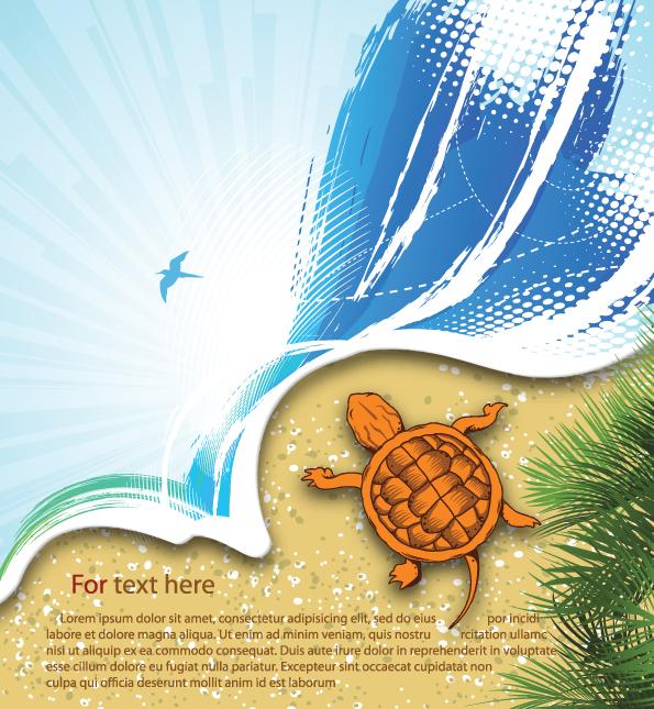 free vector Summer beach background 03 vector
