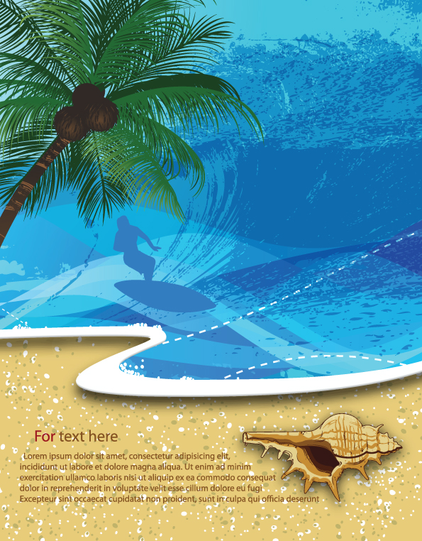 free vector Summer beach background 05 vector