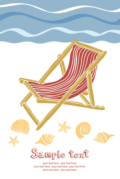 free vector Summer beach holidays vector 5