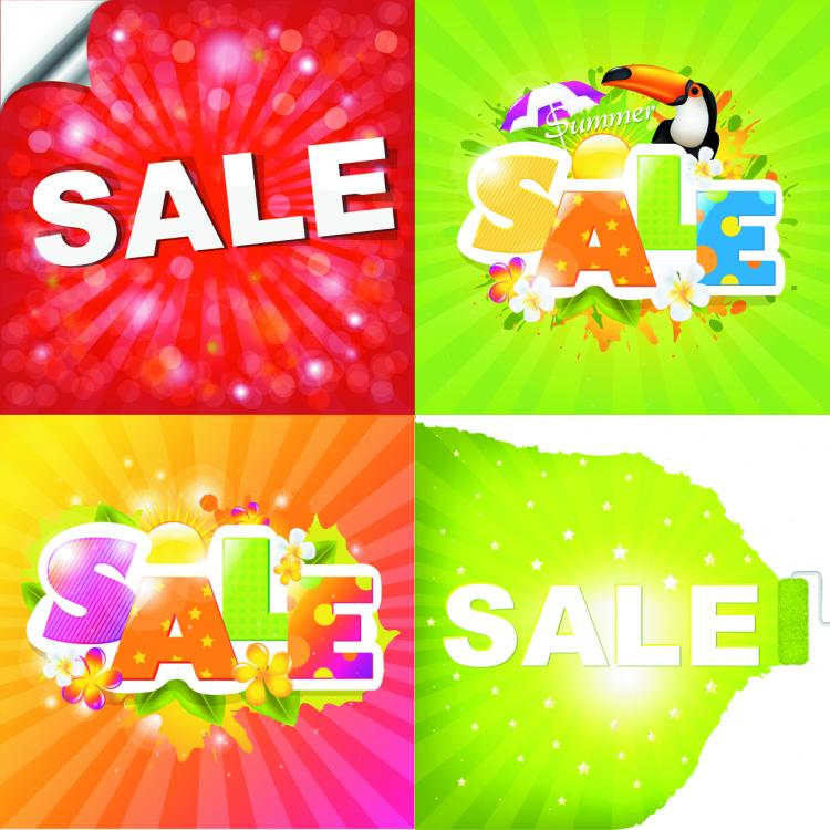 free vector Summer deals posters 04 vector