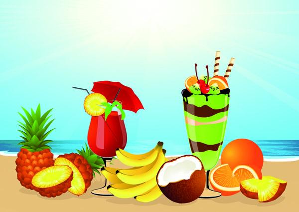 summer drinks ice cream vector free vector   4vector food border clip art free food borders clip art half