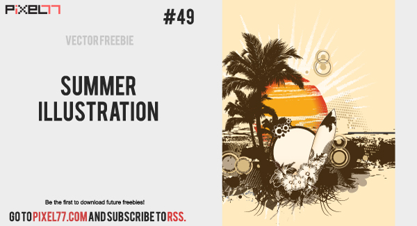 free vector Summer Illustration