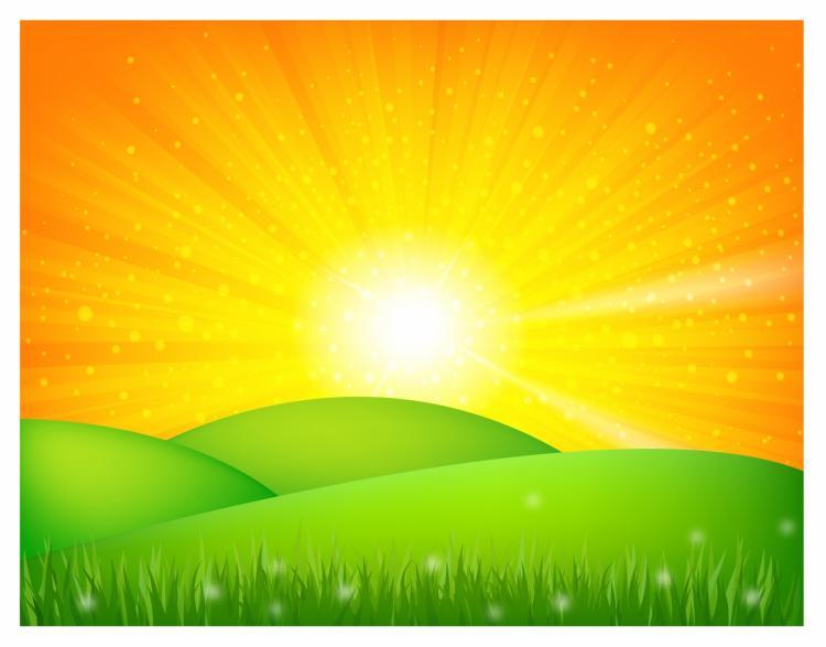 free vector Summer landscape