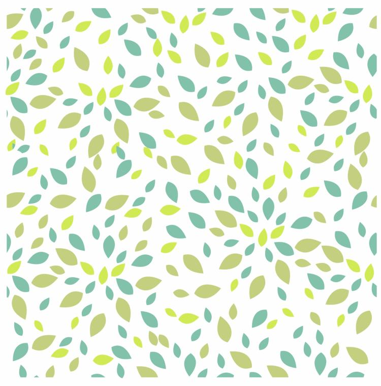 Summer leaves texture seamless pattern Free Vector / 4Vector