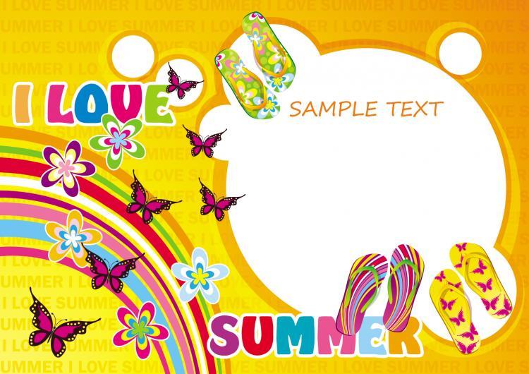 free vector Summer sandals 04 vector