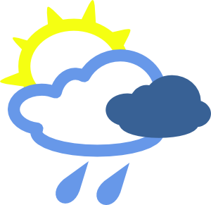 Rain weather symbols clip art 117246 sun and rain weather symbols clip