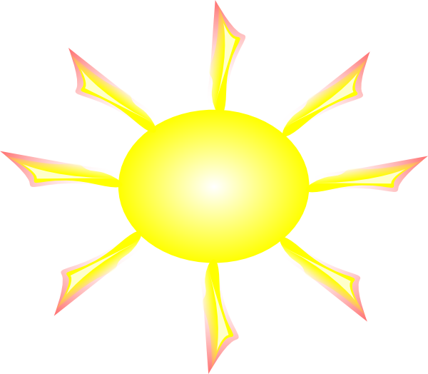 free vector Sun And Rays clip art