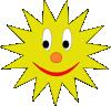 free vector Sun Avatar clip art