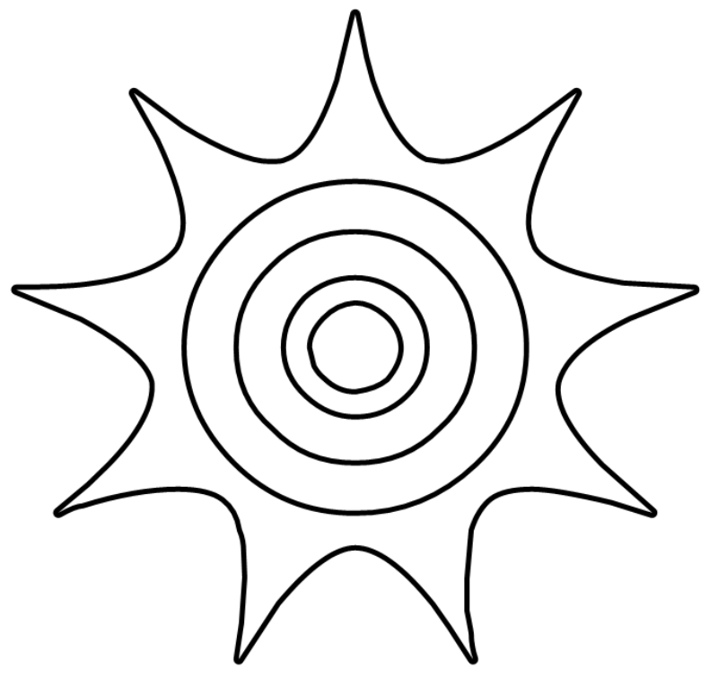 free vector Sun BW