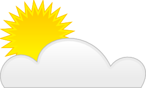 free vector Sun Cloud clip art