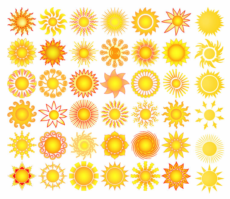free vector Sun Elements Collection Vector