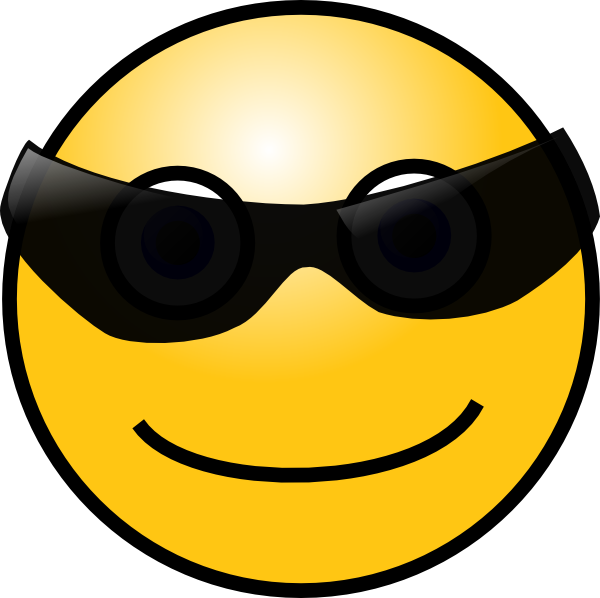 free vector Sun Glasses Cool Smiley clip art