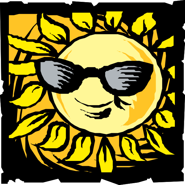 free vector Sun In Shades clip art