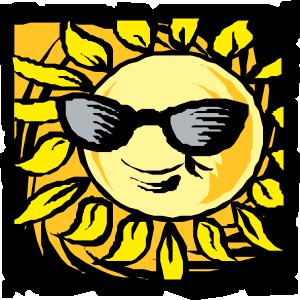 free vector Sun In Shades clip art