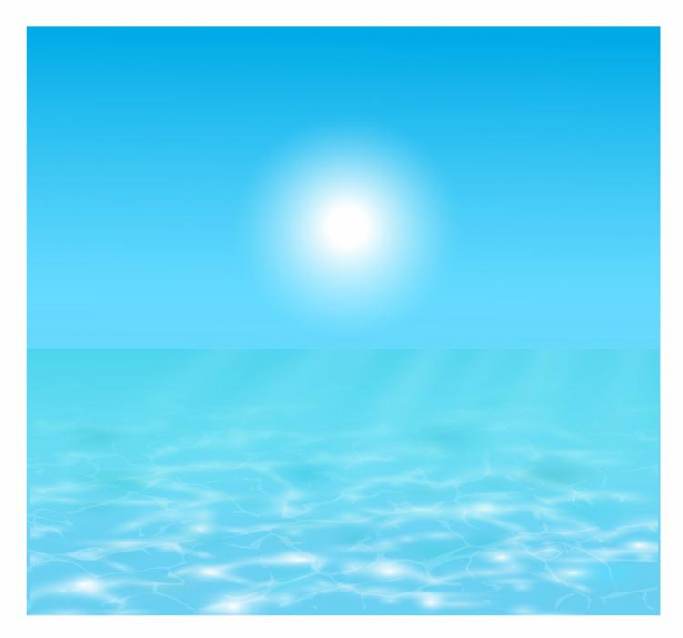 free vector Sun over the water