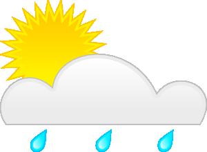 free vector Sun Rain clip art
