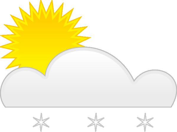free vector Sun Snow clip art