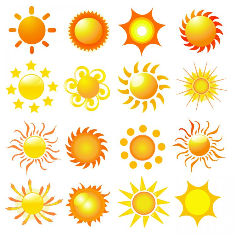 vector sun - photo #31