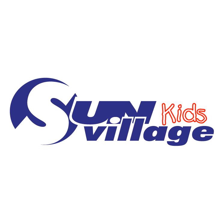 free vector Sun village kids