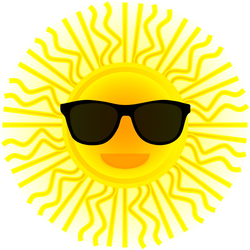 free vector Sun with sunglasses