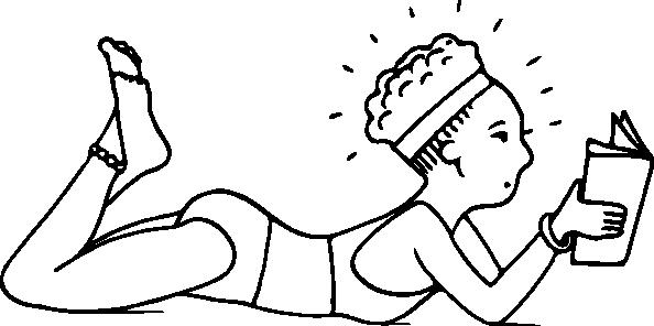free vector Sunbather Outline clip art