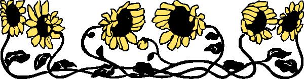 free vector Sunflower Border clip art