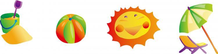 free vector Sunny beach element vector