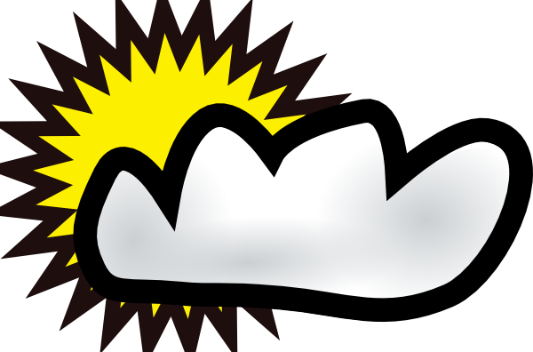 sunny partly cloudy weather clip art free vector 4vector rh 4vector com cloud clip art printable pictures cloud clip art transparent background