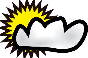 sunny partly cloudy weather clip art free vector 4vector rh 4vector com  partly cloudy clipart