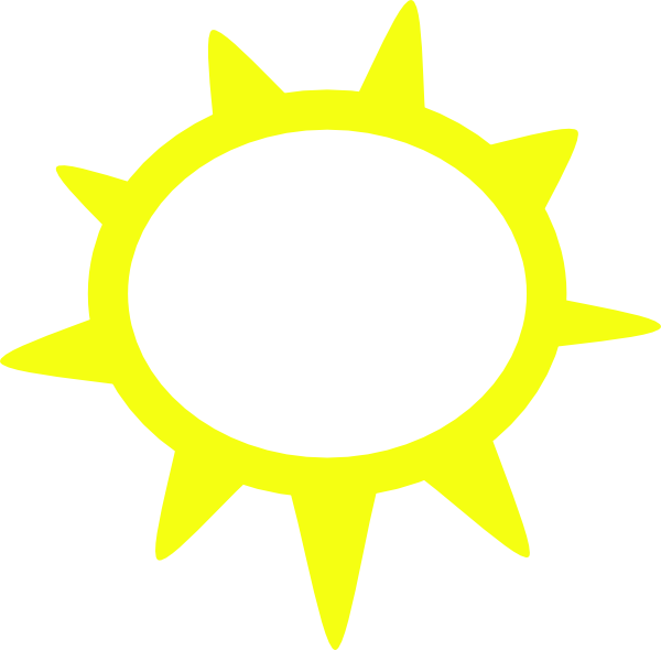 free vector Sunny Weather Symbols clip art