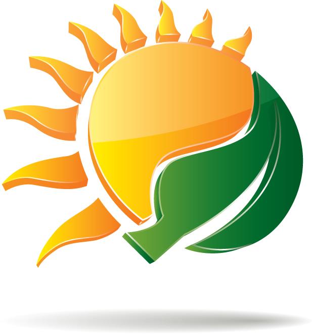 sunrise dimensional cartoon background 01 vector free vector 4vector rh 4vector com free vector sunrise logo Sunrise Logo