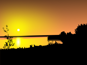 free vector Sunset clip art