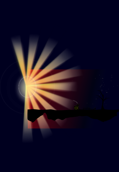 free vector Sunset Rays clip art