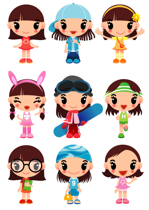 Character Design From The Ground Up Pdf Download : Super cute cartoon girl vector free