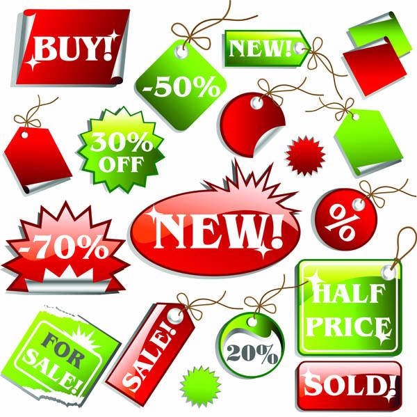 free vector Supermarket price tag vector